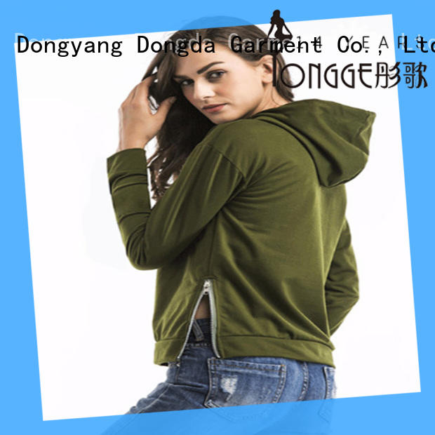 Dongda high quality graphic zip hoodies order now for international market