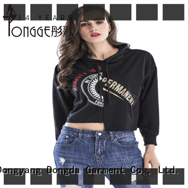new design girls graphic hoodies from China for women