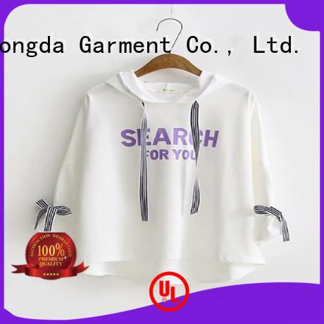 Dongda print female hoodies company for women