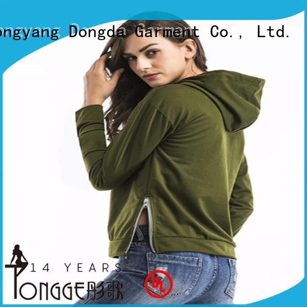 Dongda plaited graphic sweatshirts manufacturers for ladies