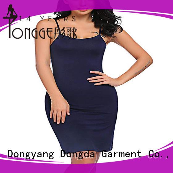 long sleeve womens sleep dress supplier for ladies Dongda